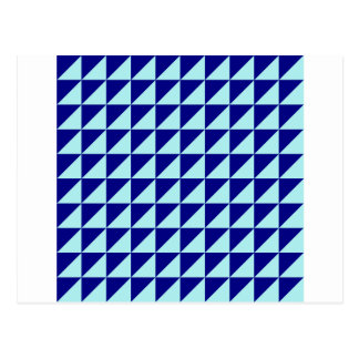 Large Triangles - Pale Blue and Navy Blue Post Card