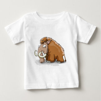 Large trunk and tusks cartoon mammoth baby T-Shirt