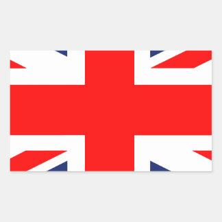 Large Union Jack.png Rectangular Sticker