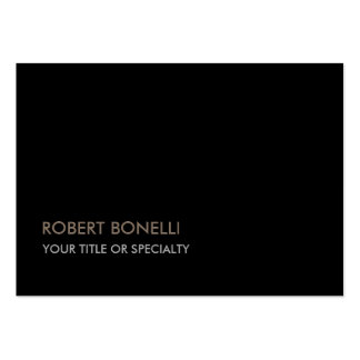 Large Unique Modern Black Stylish Pack Of Chubby Business Cards