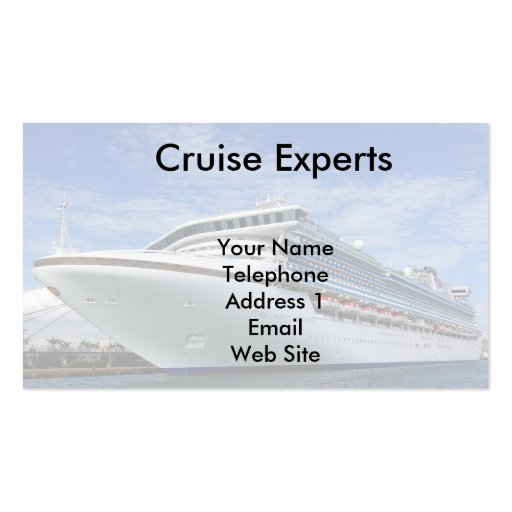 Large Vacation Cruise Ship Business Cards
