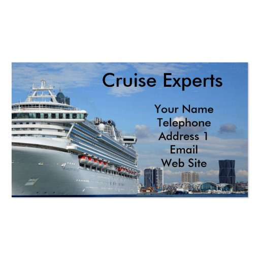 Large Vacation Cruise Ship Business Card Template