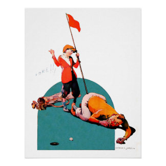 Large Vintage Golf Watercolour Print