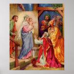 Large,Visit of Wisemen Christian Christmas Art Poster
