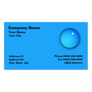 Large Water Drop Business Card Template