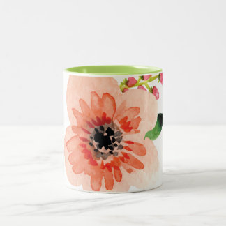 Large Watercolor Pastel Flower | Mug