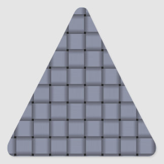 Large Weave - Cool Gray Triangle Sticker
