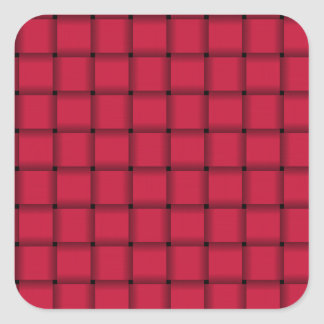 Large Weave - Crimson Square Sticker