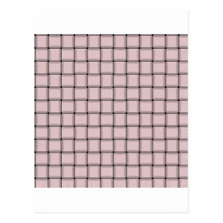 Large Weave - Pale Pink Postcard