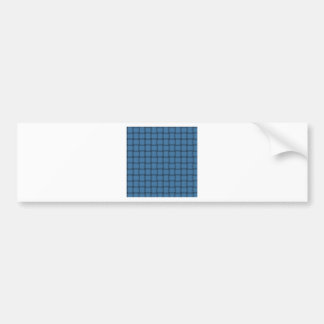 Large Weave - Steel Blue Bumper Stickers