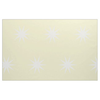 Large White Starbursts on Butter Yellow Fabric