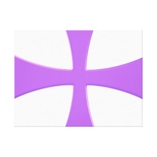 LARGE WRAP MOUNTED PURPLE CROSS PRINT GALLERY WRAPPED CANVAS