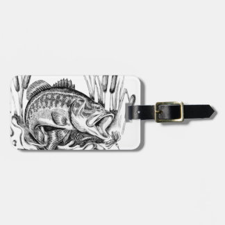 Largemouth bass bag tag