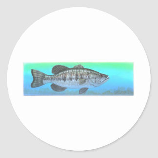 Largemouth Bass Classic Round Sticker