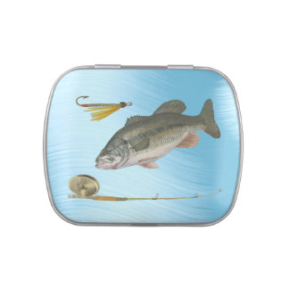 LARGEMOUTH BASS FISHING-CANDY TIN JELLY BELLY TINS