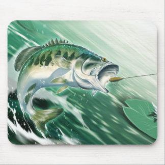 Largemouth Bass Fishing Mouse Pad