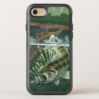 Largemouth Bass Fishing OtterBox Symmetry iPhone 8/7 Case