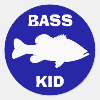 Largemouth Bass Fishing template Classic Round Sticker
