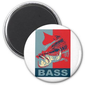 Largemouth Bass Iconized 6 Cm Round Magnet