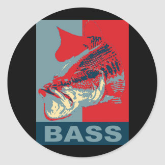 Largemouth Bass Iconized Classic Round Sticker
