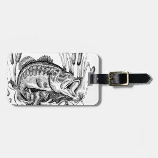 Largemouth bass luggage tag
