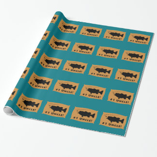 Largemouth Bass Wall Mount Wrapping Paper