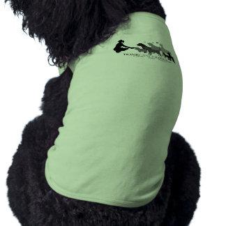 Larger Dog Muscle Tee - Grey Logo Sleeveless Dog Shirt