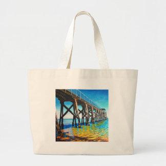 Largs Pier Jumbo Tote Bag
