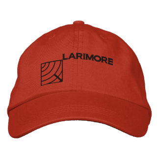 Larimore Logo with Text Embroidered Cap