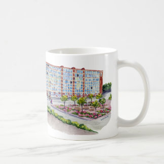 Larkin Building With Taur Cap logo Basic White Mug