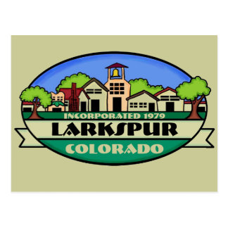 Larkspur Colorado small town postcard