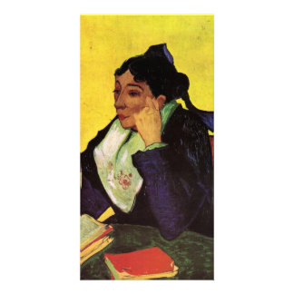 L'Arlesienne Madame Ginoux with Books by van Gogh Personalized Photo Card