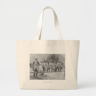 Larry Larom with six children. Large Tote Bag