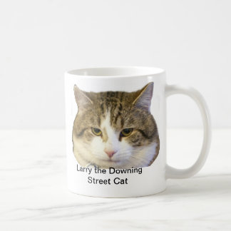 Larry the Downing Street Cat Face - Catching rats Coffee Mug