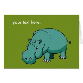 Larry the Hippo. Card