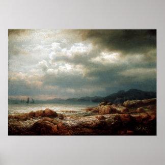Lars Hertervig Coastal Landscape Poster