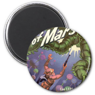 Lars of Mars and the Bug-eyed Tentacle Monster 6 Cm Round Magnet
