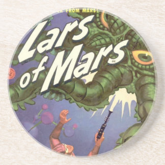 Lars of Mars and the Bug-eyed Tentacle Monster Beverage Coaster