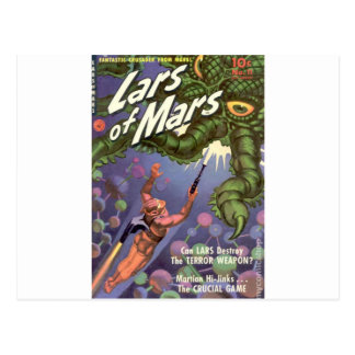 Lars of Mars and the Bug-eyed Tentacle Monster Postcard