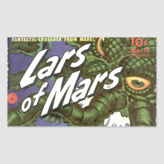 Lars of Mars and the Bug-eyed Tentacle Monster Rectangular Sticker