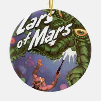 Lars of Mars and the Bug-eyed Tentacle Monster Round Ceramic Decoration