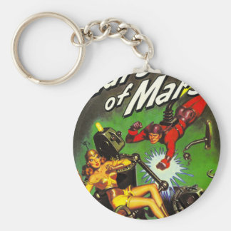 Lars of Mars Basic Round Button Key Ring