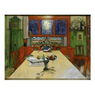 Larsson - Evening, Interior Postcard