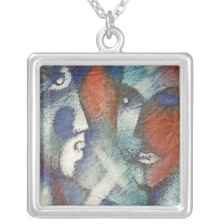 Las Caras Silver Plated Necklace