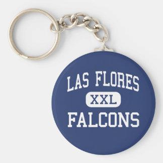 Las Flores - Falcons - High - Sacramento Basic Round Button Key Ring