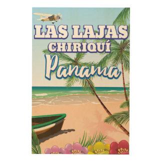 Las Lajas, Chiriquí Panama Beach travel poster