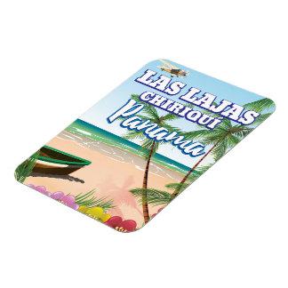 Las Lajas, Chiriquí Panama Beach travel poster Magnet