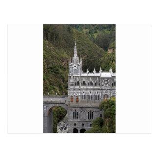 Las Lajas sanctuary basilica church Colombia Postcard