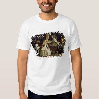 Las Meninas detail of the lower half depicting Tee Shirts