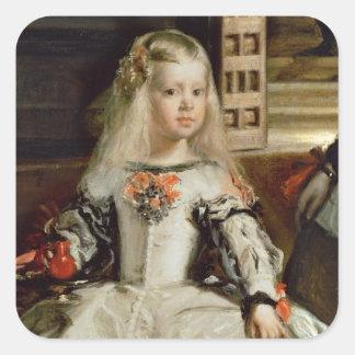 Las Meninas or The Family of Philip IV, c.1656 Square Sticker